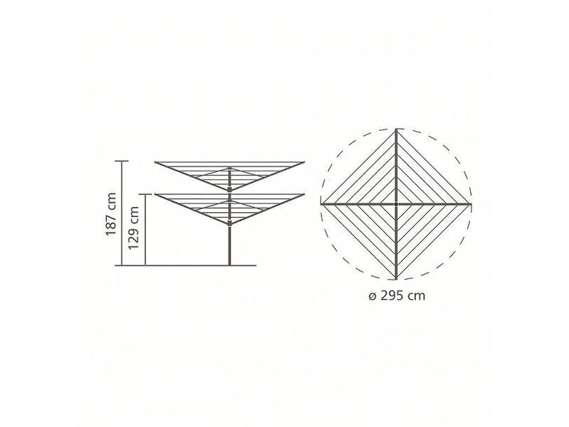 Brabantia Droogmolen Lift O Matic 50 meter