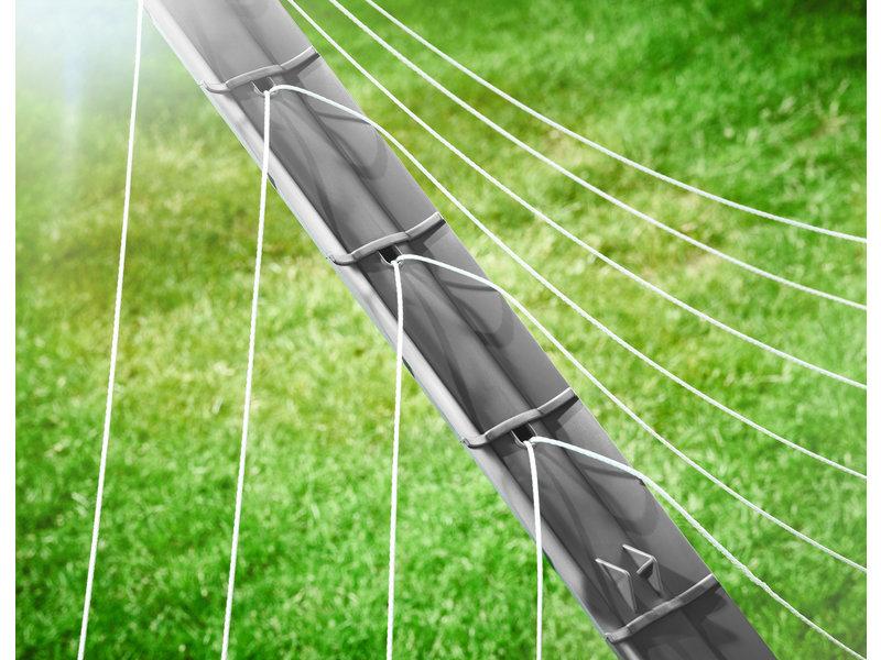 Leifheit Leifheit Droogmolen Linomatic 600 Plus - incl. betonanker - Antraciet - 60m