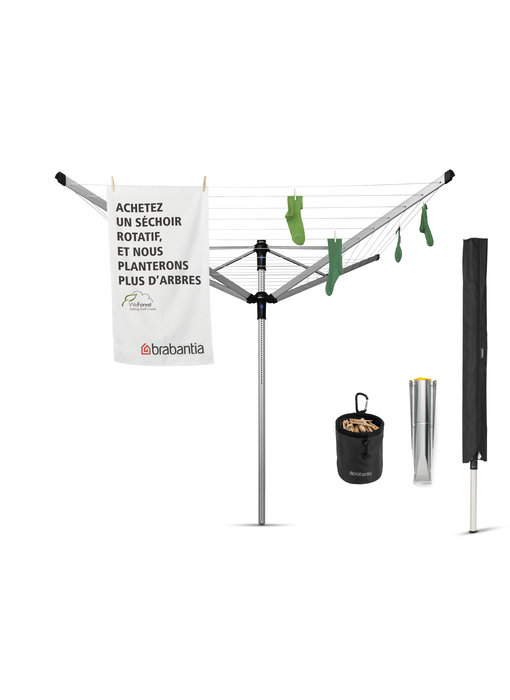 Brabantia Droogmolen Lift O Matic Advance 50 meter - met metaal grondanker