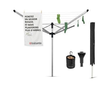 Brabantia Droogmolen Lift-O-Matic Advance - 50m - incl. betonanker, beschermhoes en wasknijpertasje