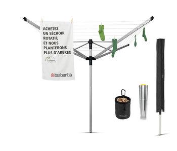 Brabantia Droogmolen Lift-O-Matic Advance - 50m - incl. grondanker, beschermhoes en wasknijpertasje