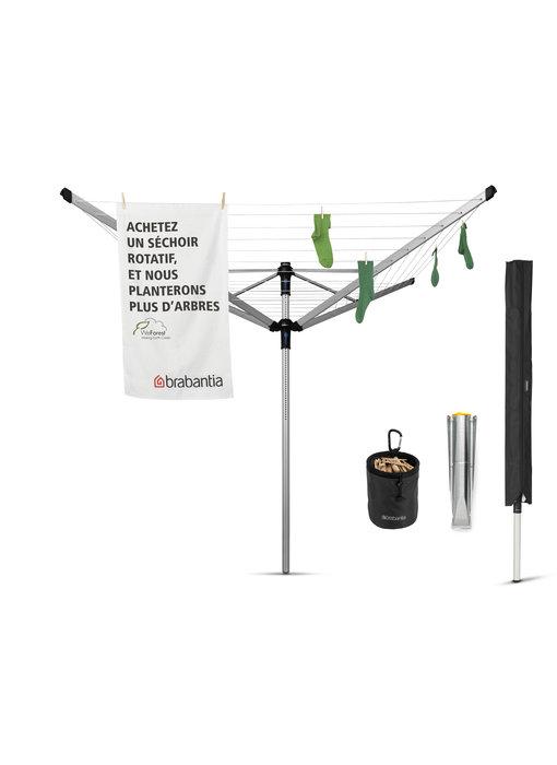 Brabantia Droogmolen Lift O Matic  Advance 50 meter, Incl. beschermhoes en wasknijpertas