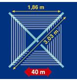 Leifheit Linomatic 400 Premium droogmolen incl. bodemhuls - 40 m