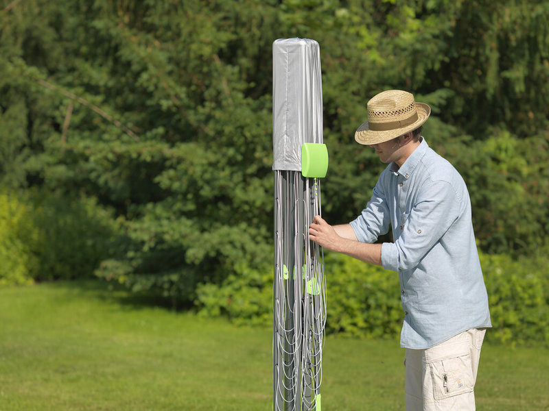 Juwel Droogmolen Novaplus Evolution Lift - 50,5 meter - met grondanker en beschermhoes