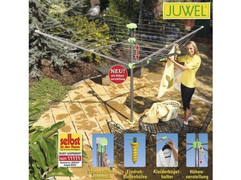 Juwel Juwel Droogmolen Novaplus Evolution Lift - incl. grondanker en beschermhoes - 50.5m
