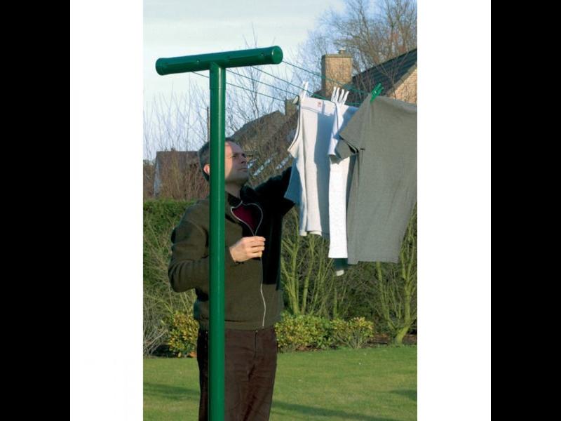 Betafence Waslijnpaal - 2 stuks - Groen -  (H)245 x (B)60 cm