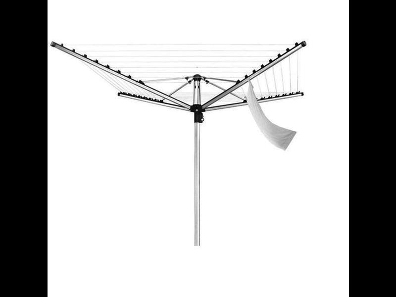 Leifheit Leifheit Droogmolen Linomatic 400 Premium - incl. betonanker - Antraciet - 40m