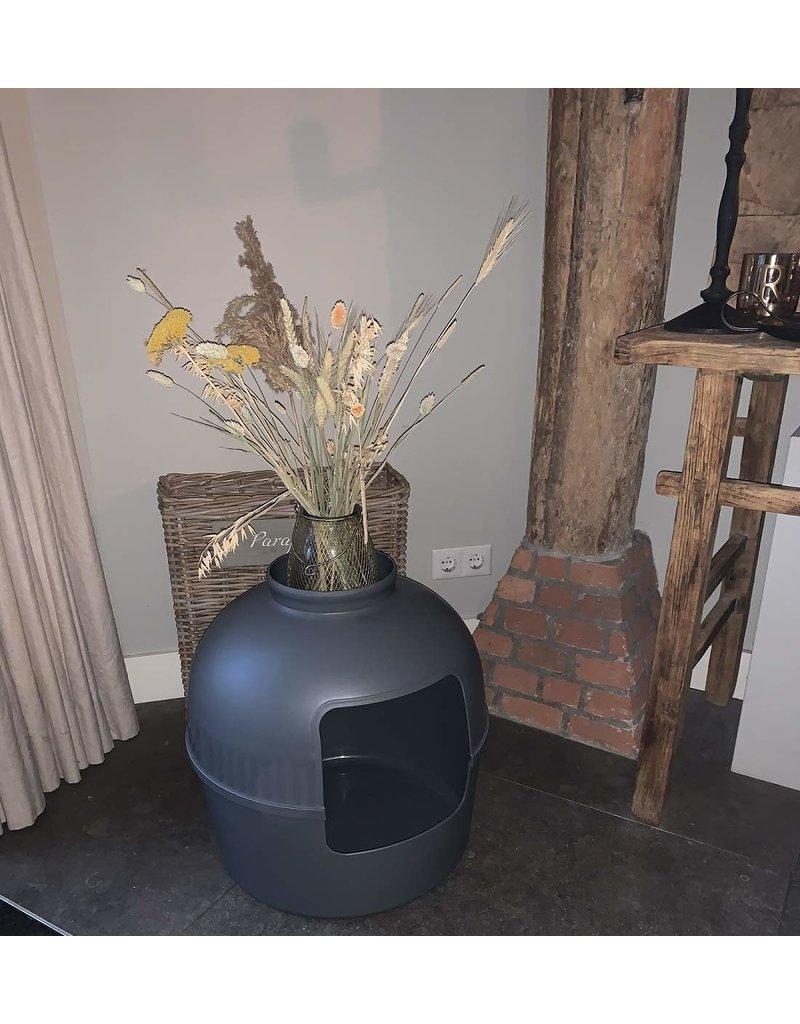 Kattenbak Flower XXL Grijs (RHR0435)