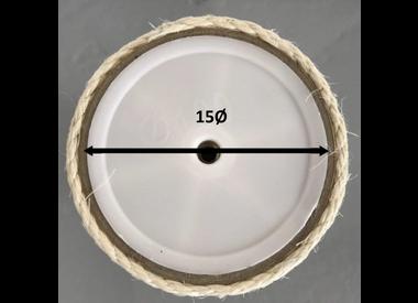 Sisalpalen Creme M8 - 15ø