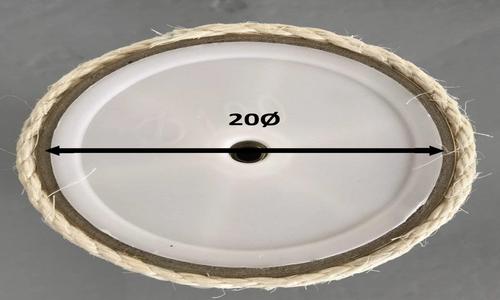 Sisalpalen Creme M10 - 20ø