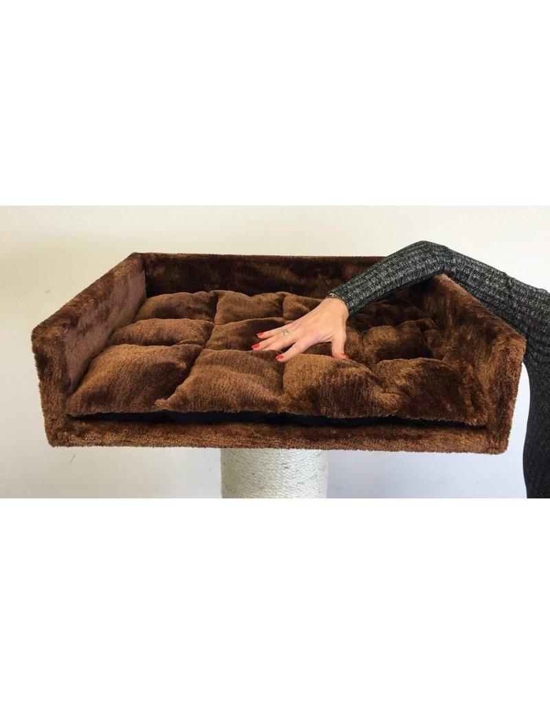 Ligbak Lounge + Kussen Brown