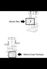 Kussen - Speelhuisje Devon Rex/Maine Coon Fantasy Brown