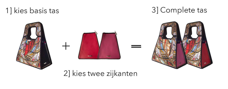 Stel je eigen tas samen met de tassen van Manichel modulair