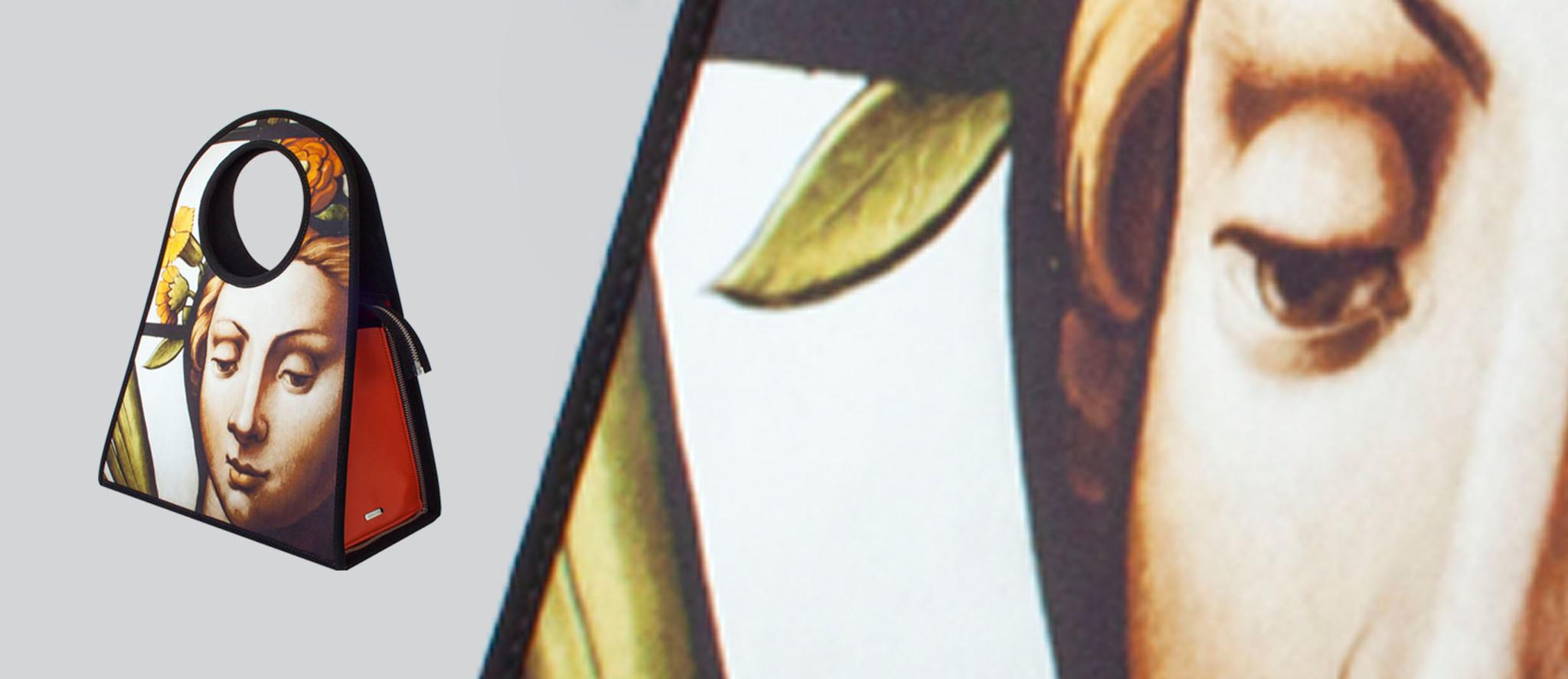 Manichel tas als souvenir, tas met fotoart uit Nederland