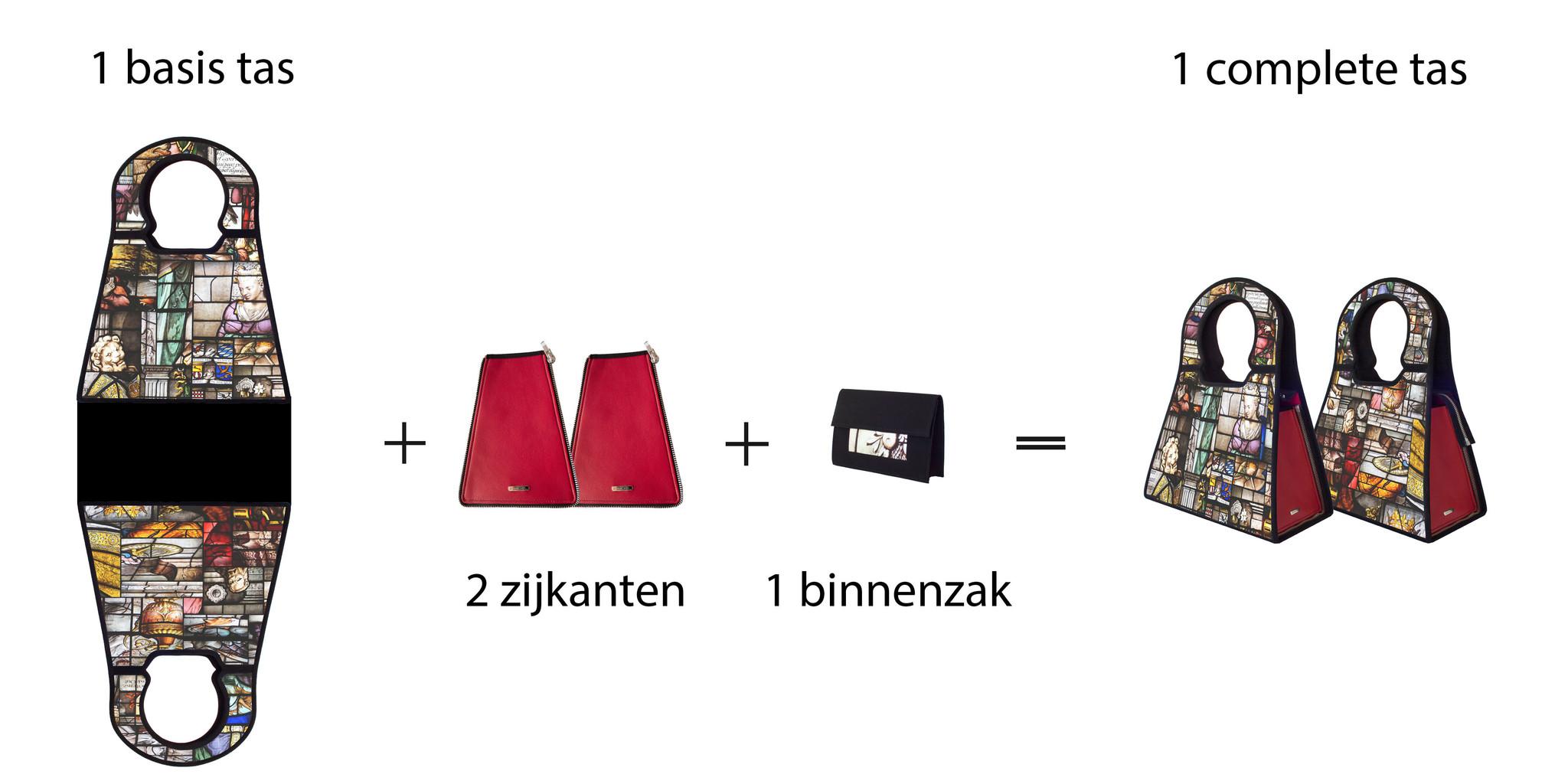 Stel jouw tas samen ,dit kan bij Manichel tassen. Veel keuze uit kleur.
