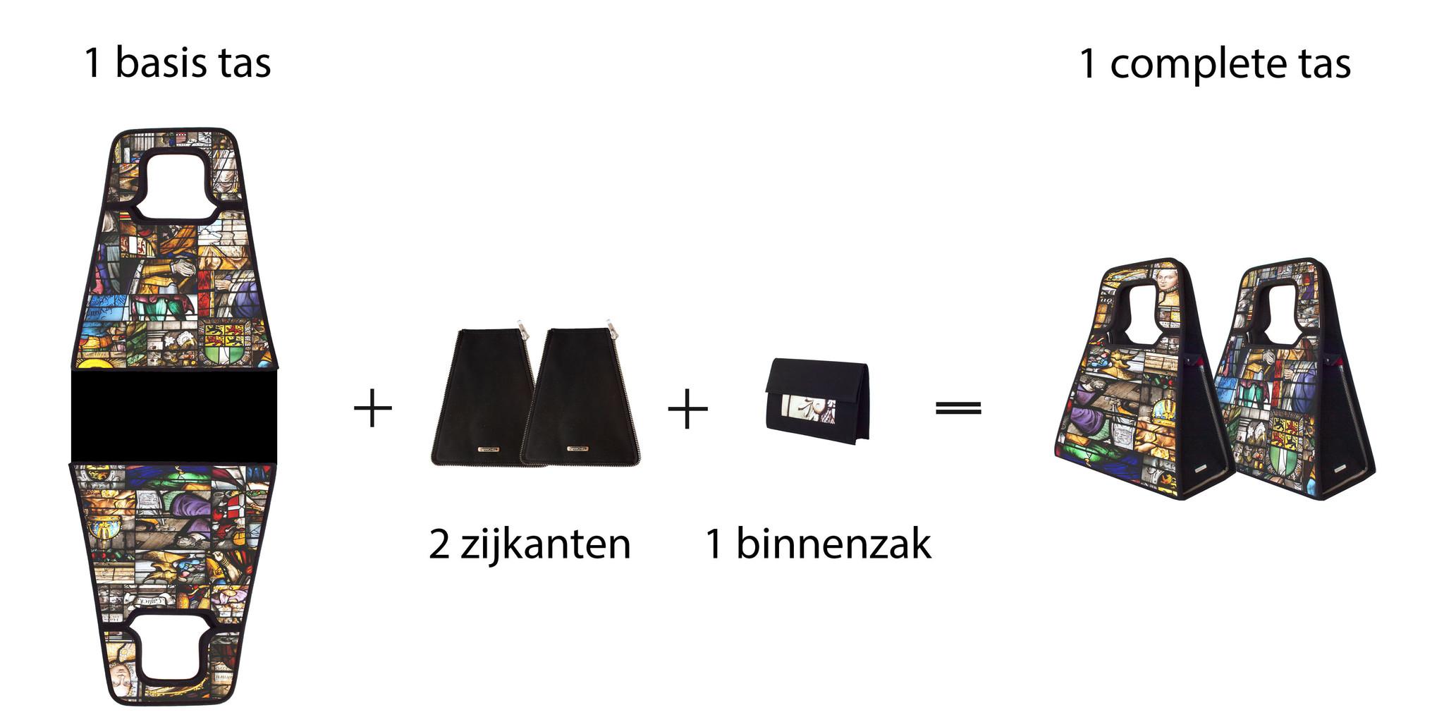 Stel je eigen handtas samen, welke kleur wil jij?