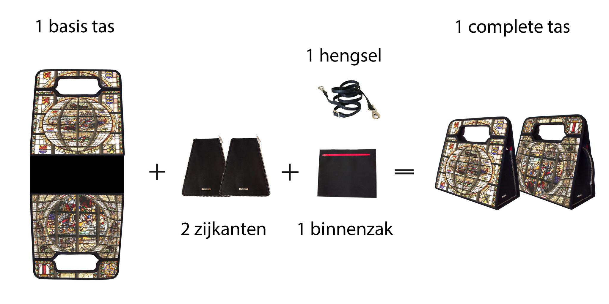 Stel je tas samen bij MAnichel modulaur tassen, prachtige combinaties