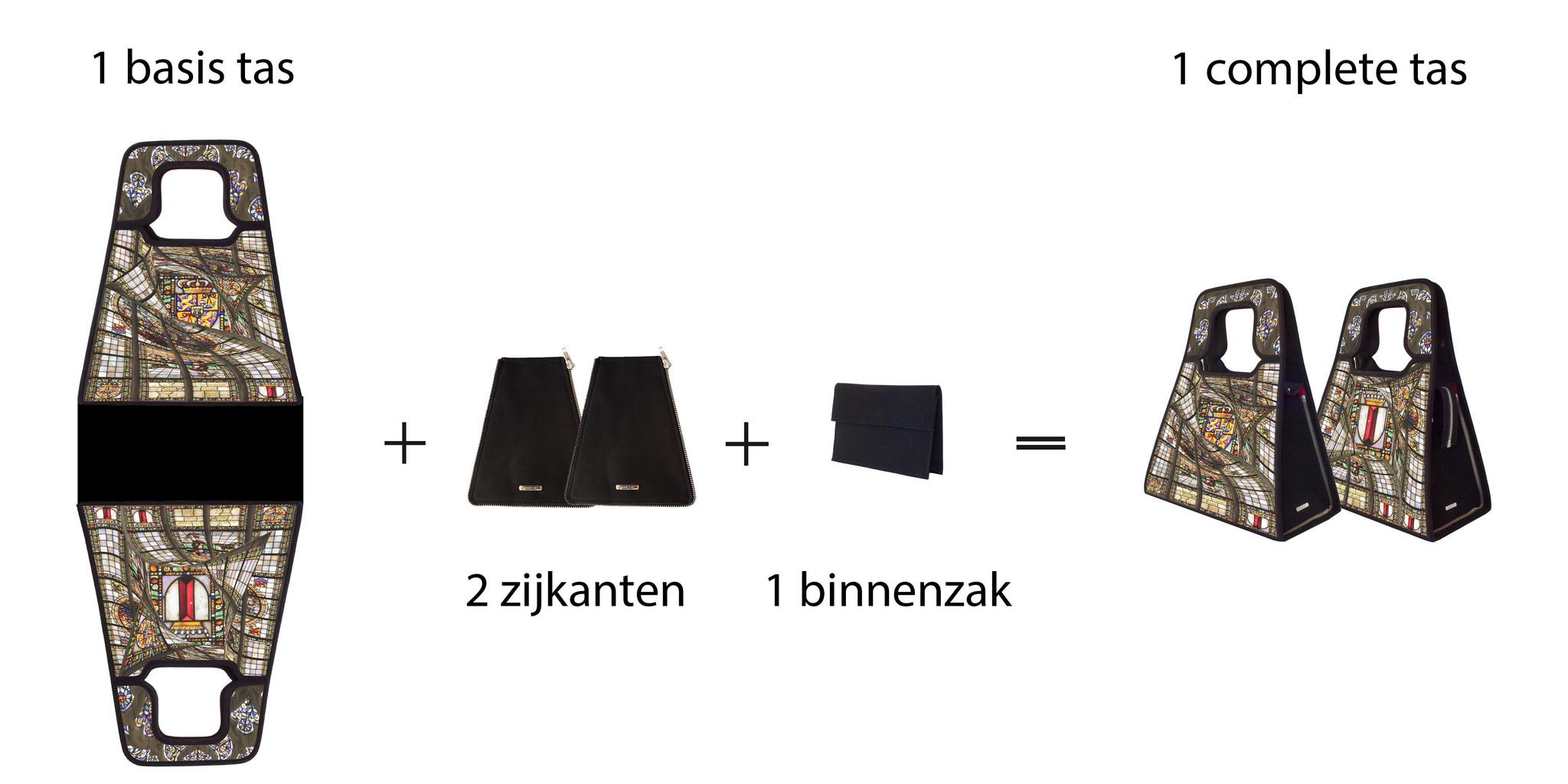 stel je eigen tas amen met Manichel modulair tassen