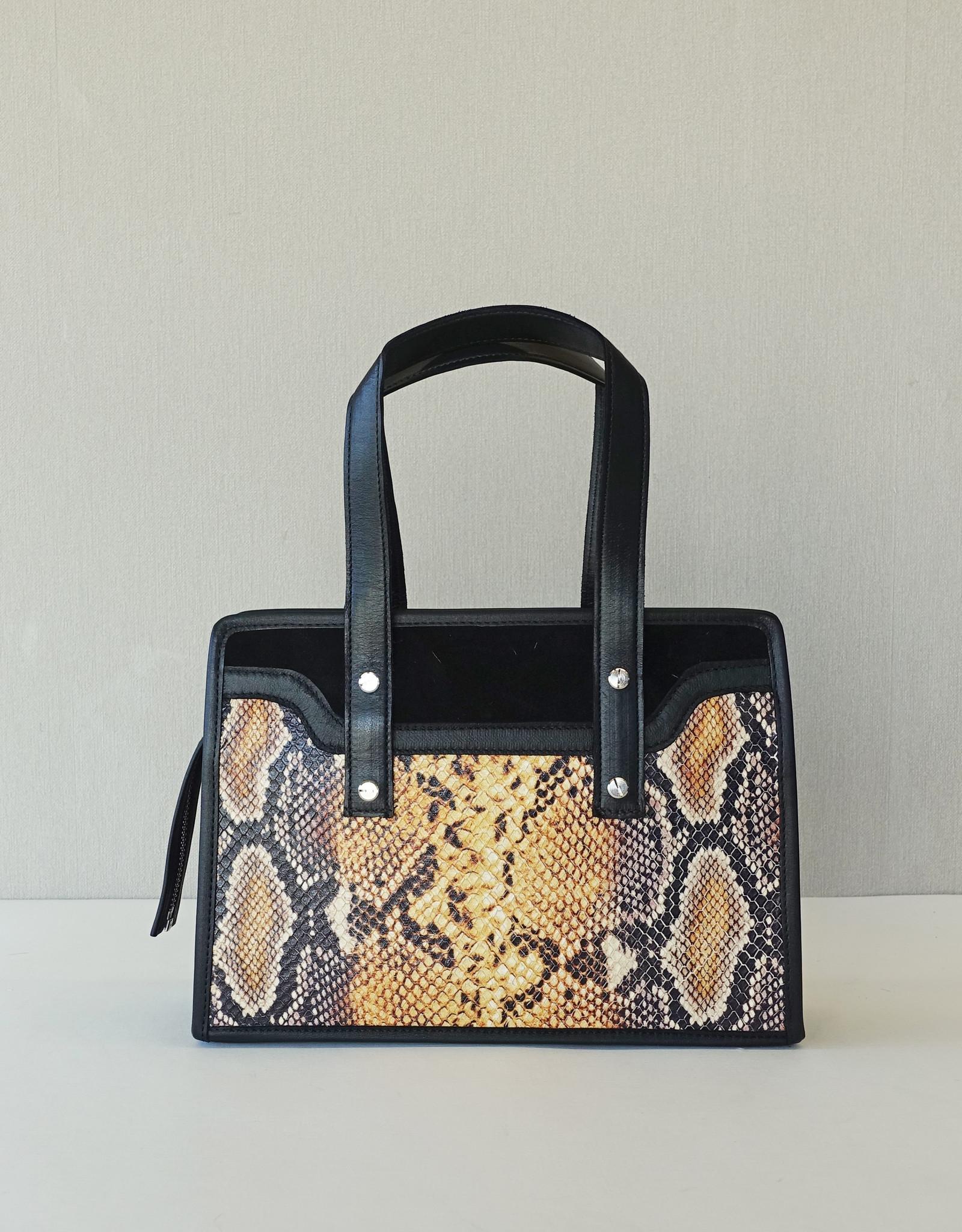 Gigi,  yellow snake print leather