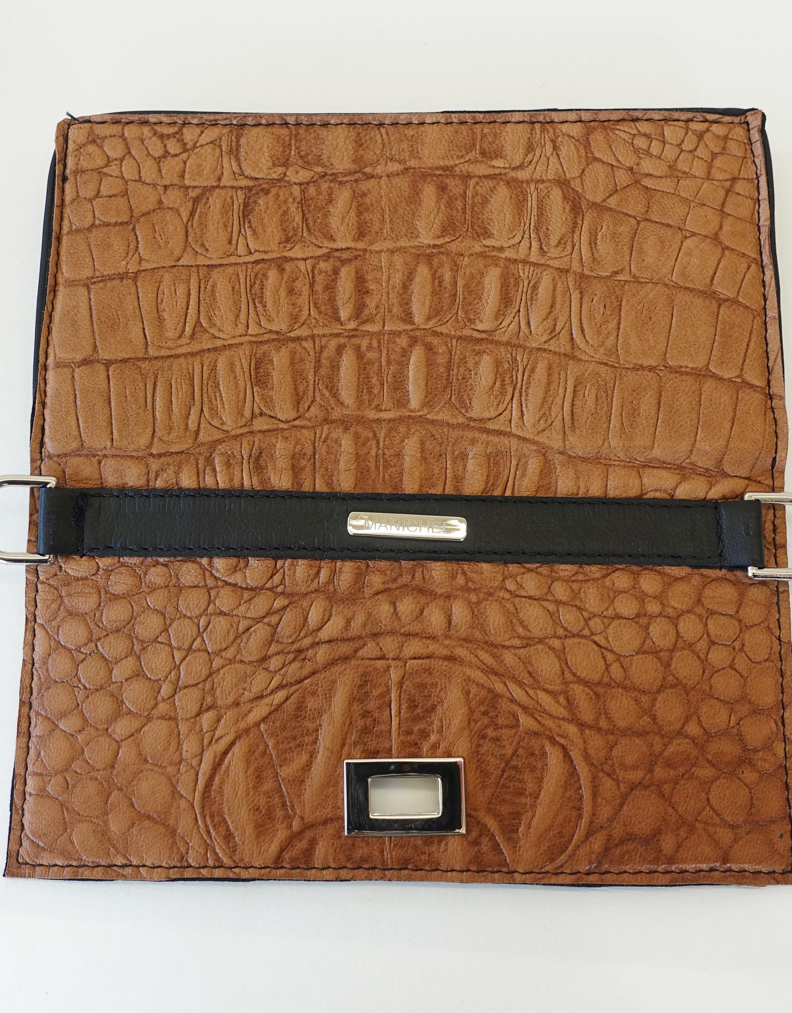 Iris, brown leather