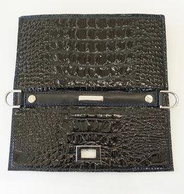 Irirs, black patent krokoprint