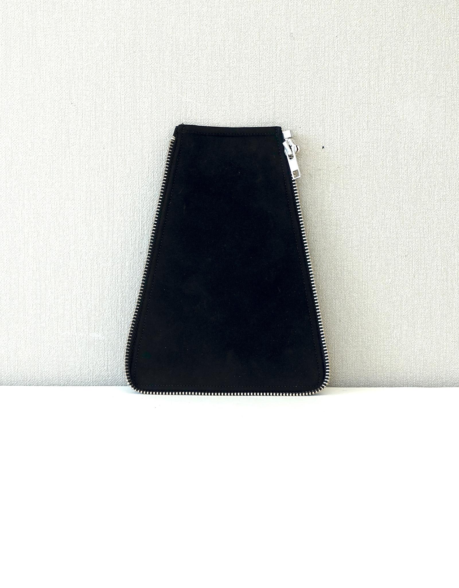Zijkant maat 2, zwart suede