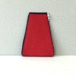 Zijkant maat2, rood leer