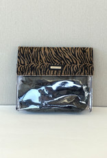 Binnenzak/bruin zebra/doorzichtig