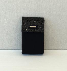 Binnenzak telefoon/zwartlak/zwart