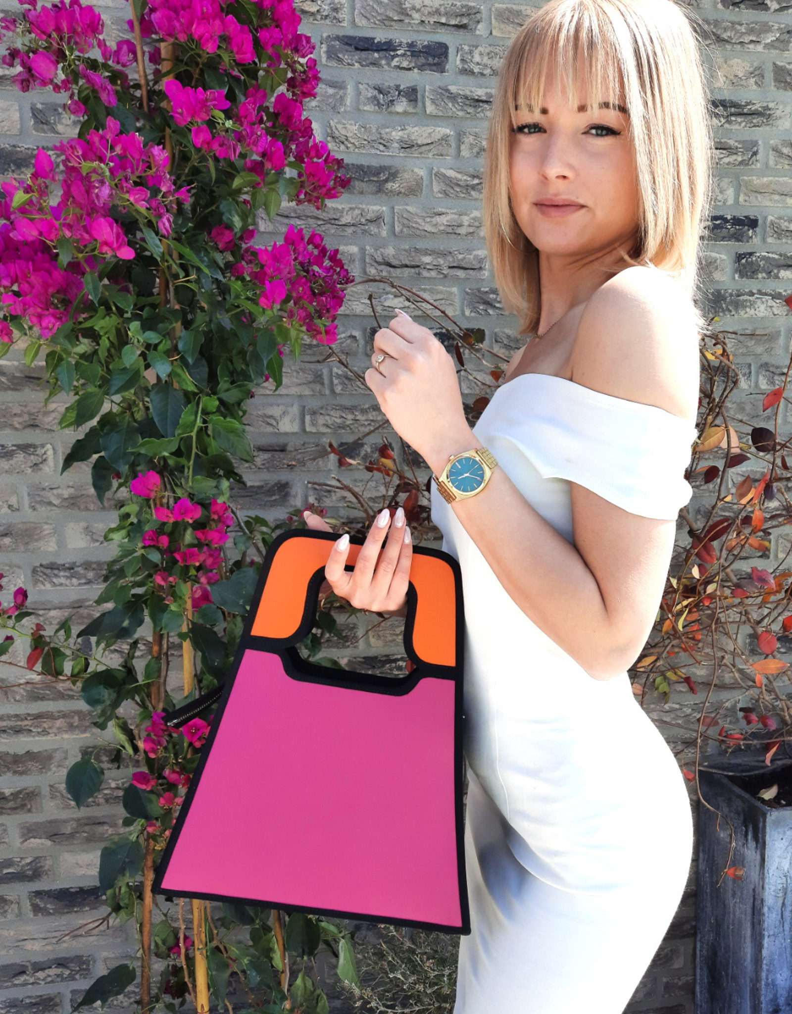 Charlize,oranje /roze