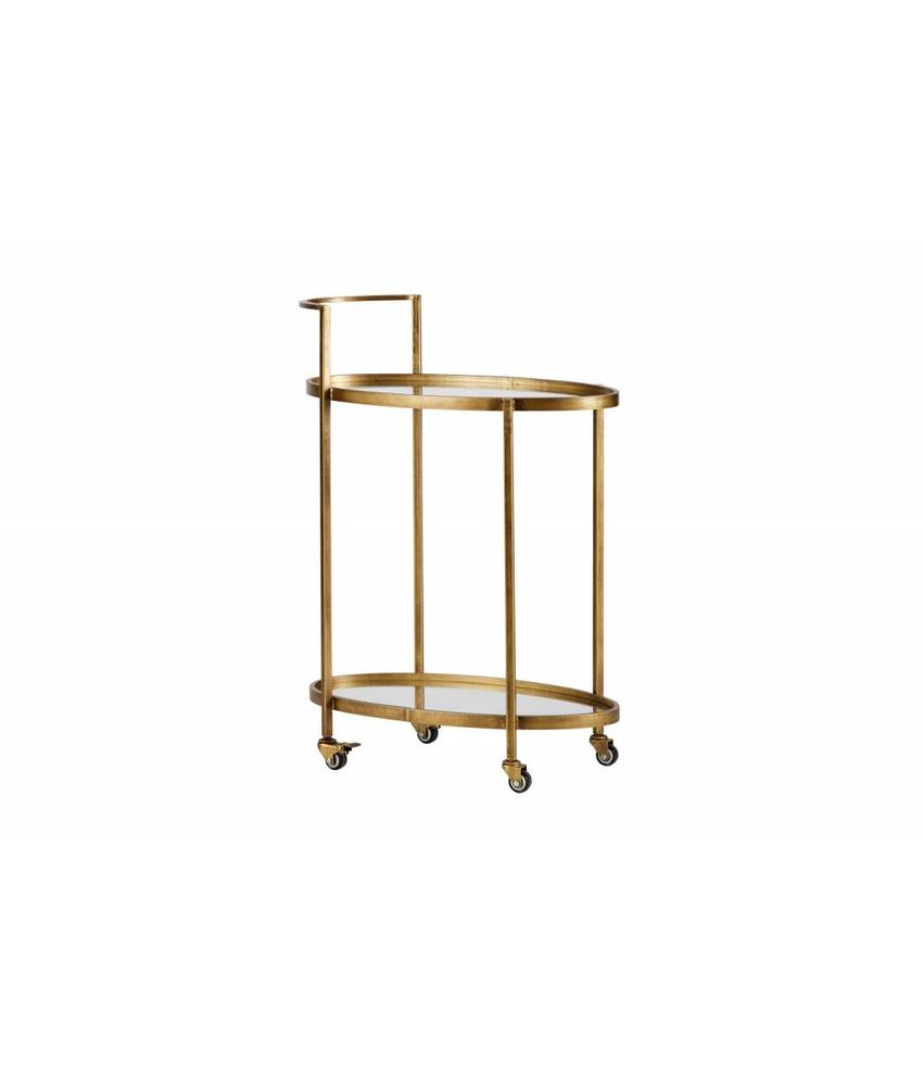 Be Pure Home Push Trolley Metaal Antique Brass
