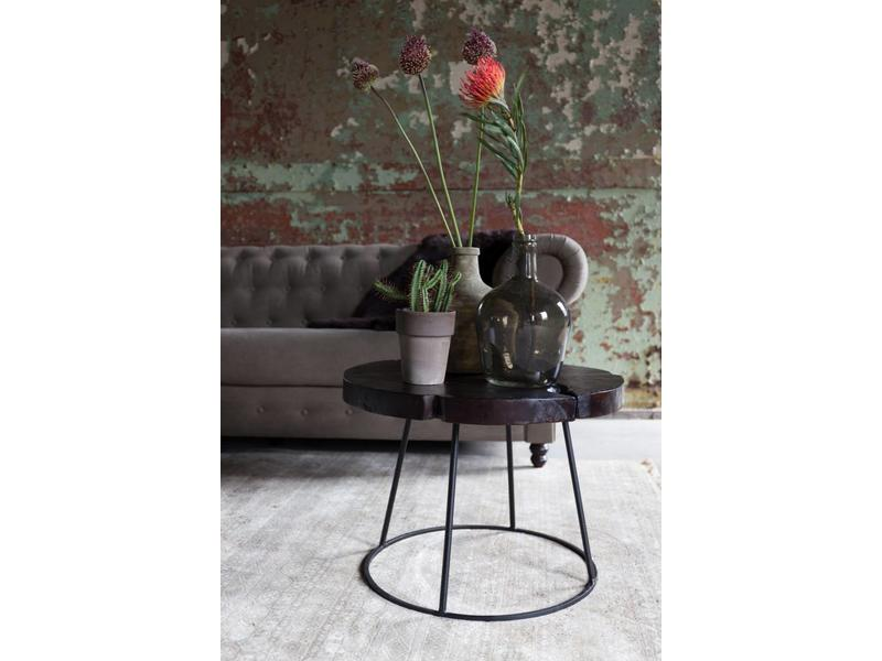 Dutchbone SIDE TABLE KRATON CHOCOLATE BLACK