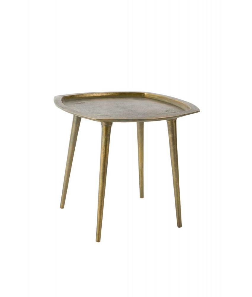 Dutchbone Dutch bone Abbas side table, 45 x 45, Cast aluminium, brass plated