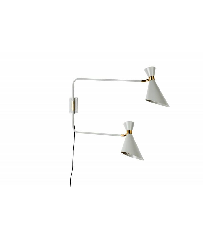 Zuiver WALL LAMP DOUBLE SHADY GREY