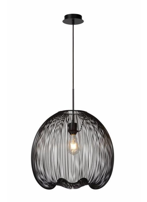 Lucide WIRIO- Hanglamp- diam. 46 cm- Zwart