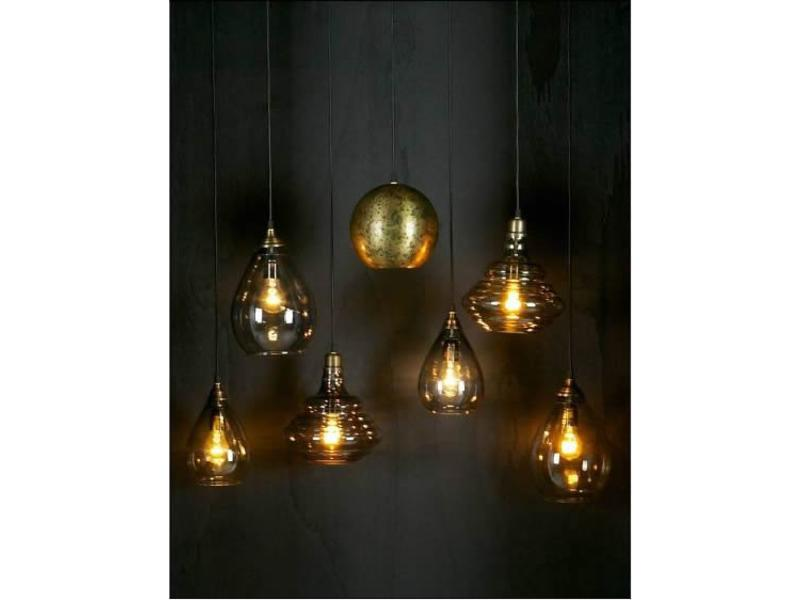 Be Pure Home Simple Hanglamp Glas Large Antique Brass