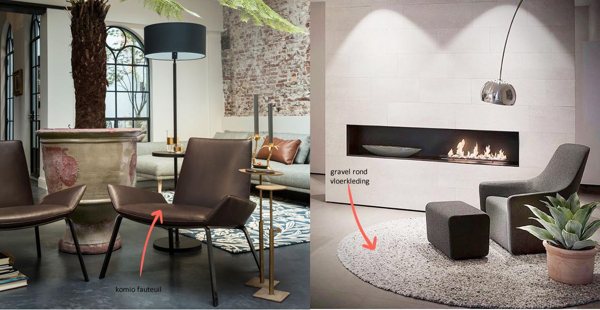 Gravel rond vloerkleed - Dotshop design meubels amsterdam