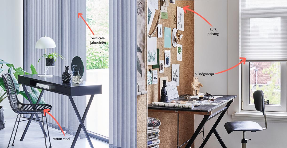 kurk behang en plisségordijn inspiratie voor je kamer bij DOTshop