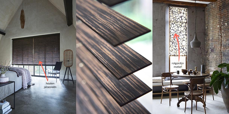 houten jaloezieën - mooi - stoer - modern raamdecoratie voor je huis bij DOTshop