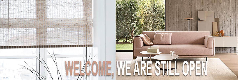 Woonwinkel gespecialiseerd in de raamdecoratie en hoogwaardige meubels.