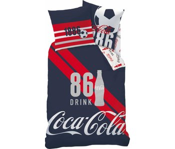 Coca Cola Couette 140x200 Sport + 63x63 cm