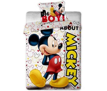Disney Mickey Mouse About duvet cover 140x200 + 63x63cm micro