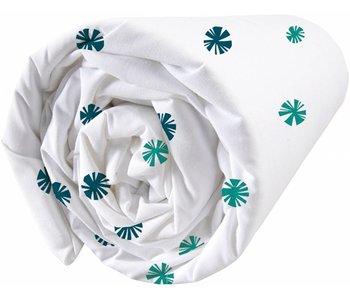 Matt & Rose Hoeslaken Fleurs graphiques Navy, emerald 160x200cm
