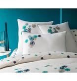 Matt & Rose Dekbedovertrek Fleurs graphiques Navy, emerald 240x220cm