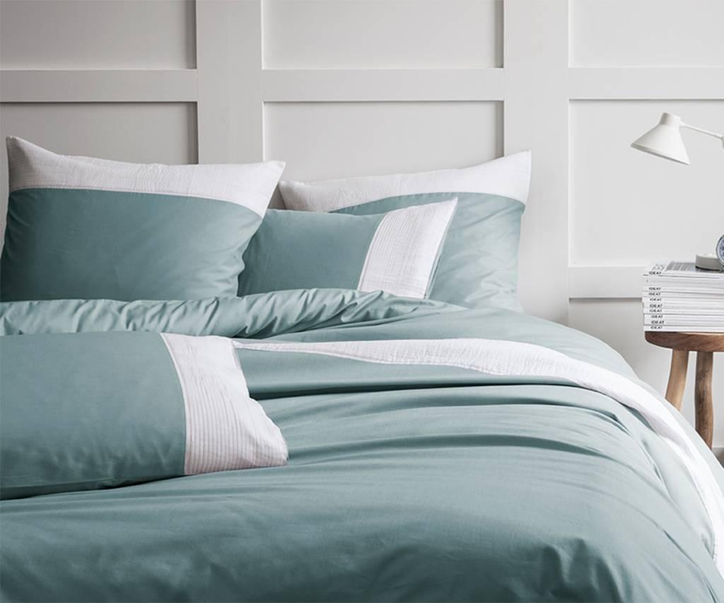 Plissé tendance blue white dekbedovertrek lits jumeaux