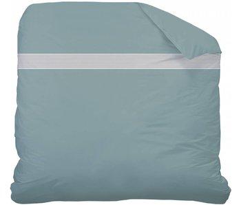 Matt & Rose Housse de couette plissée bleu Tendance « orage » 240x220cm blanc