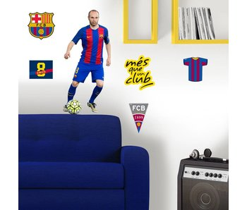 FC Barcelona Wandaufkleber 70x50cm Iniesta