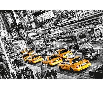Fotobehang PosterXXL Cabs Queue 175x115 cm