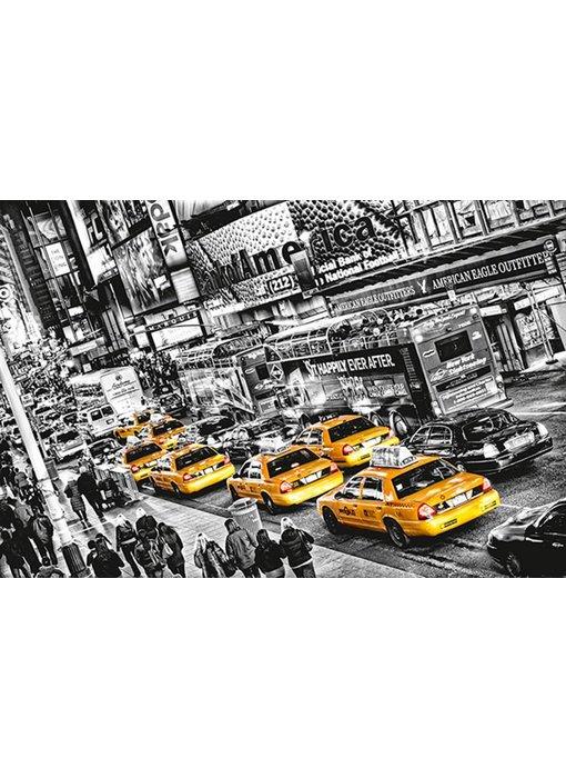 Fotobehang Poster XXL Cabs Queue 175x115 cm