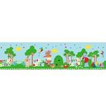 In de droomtuin - Behang Rand - 5 meter / 15,6 cm - Multi Colour